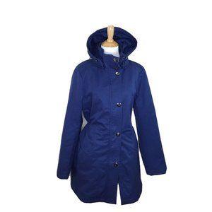 KRISTEN BLAKE Outerwear Jacket Size XL Blue Hood
